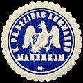 Siegelmarke Königlich Preussisches Bezirks Kommando Mannheim W0238180.jpg