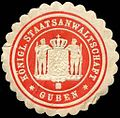 Siegelmarke Königliche Staatsanwaltschaft Guben W0211380.jpg