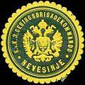 Siegelmarke K.u.K. 3. Gebirgsbrigadekommando Nevesinje W0317570.jpg