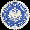 Siegelmarke Kaiserlich Deutsche Gesandtschaft in Lissabon W0223517.jpg