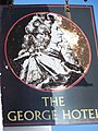 Sign for the George Hotel, Amesbury - geograph.org.uk - 864153.jpg