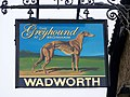 Sign for the Greyhound at Bromham - geograph.org.uk - 1576731.jpg