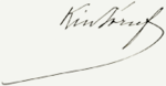 Signature of József Kiss.png