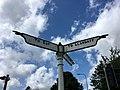 Signpost at junction with Fairwater Road, Fairwater, August 2019 02.jpg
