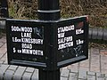Signpost on Fazeley Canal - geograph.org.uk - 723440.jpg