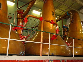 Pot still - Pot stills at the Lagavulin Distillery