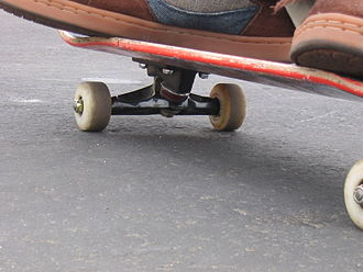 Skateboard - The side of a skateboard