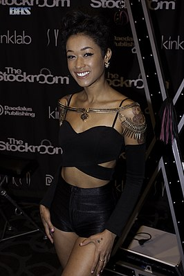 Skin Diamond op de 2016 AVN Adult Entertainment Expo
