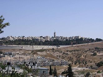 Mount Scopus - The Hebrew University campus and tower on Mount Scopus from the south