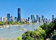 Skyline of Brisbane viewed from Kangaroo Point, Queensland, November 2019, 01