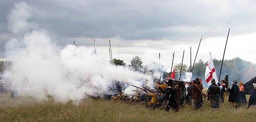 Slag om Grolle 2008-1 - Linie van Staatse troepen vuurt-2