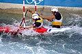 Slalom canoeing 2012 Olympics C2 FRA Gauthier Klauss and Matthieu Peche.jpg