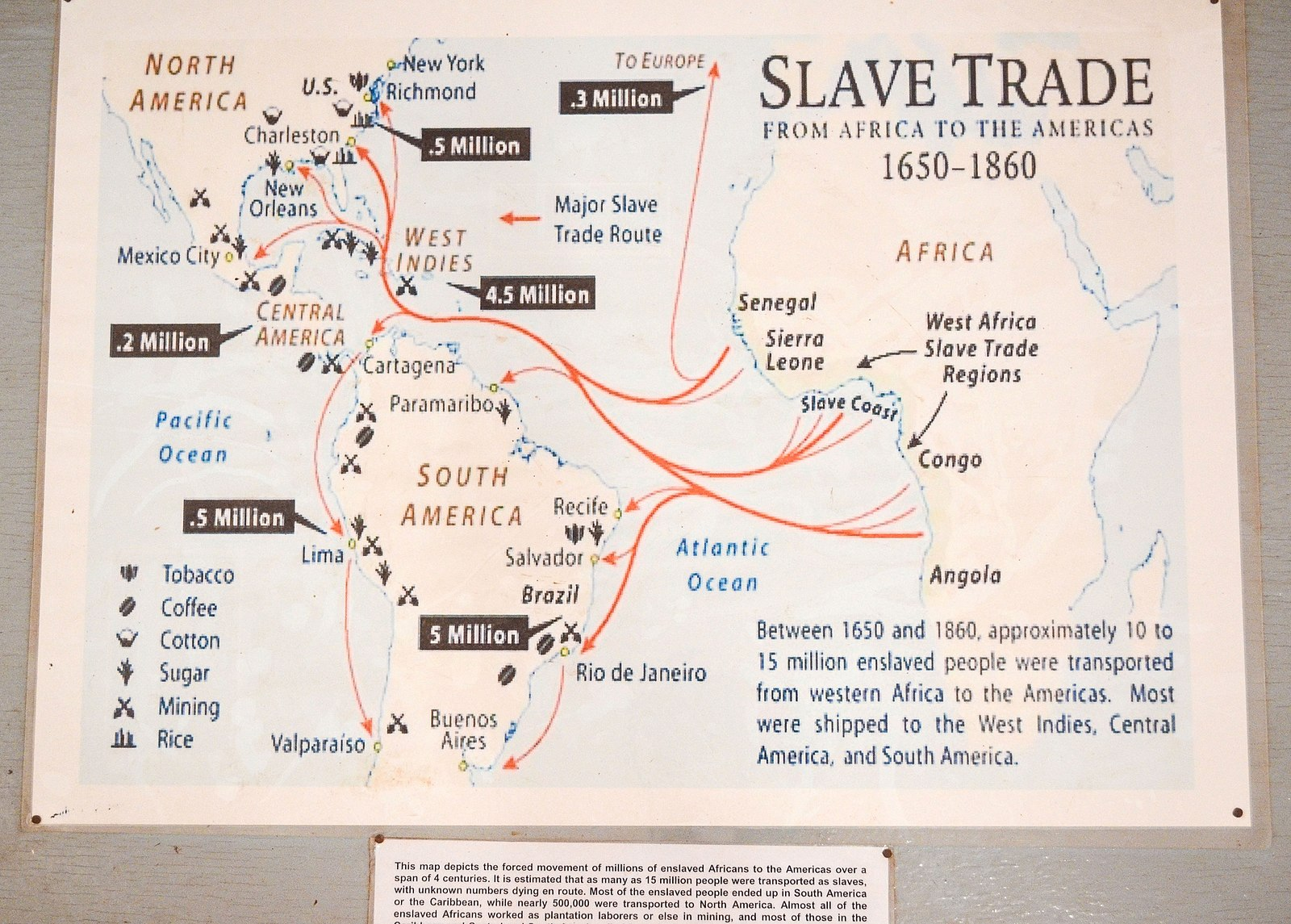 the slave trade route between africa and The transatlantic slave trade profoundly diminished africa's prospective to develop economically and uphold its social and political stability socially, the biggest impact the trans-atlantic slave trade had on west africa was a decrease in their population statistics, gathered from western civilization: a.