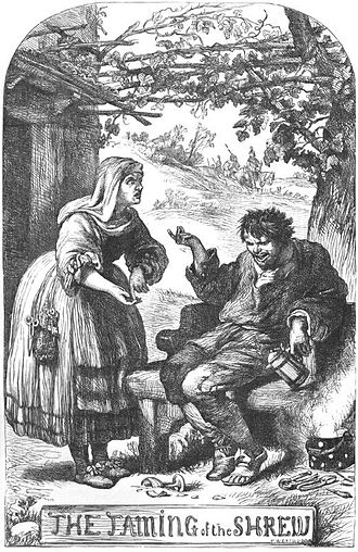Christopher Sly - The Hostess demands payment from Sly, illustration by H.C. Selous from The Plays of William Shakespeare: The Comedies, edited by Charles Cowden Clarke and Mary Cowden Clarke (1830)