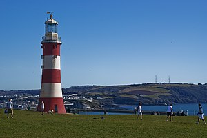 Smeaton's Tower - Image: Smeatons tower Plymouth Hoe