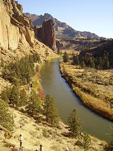 Der Crooked River im Smith Rock State Park