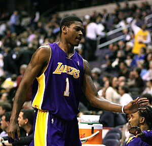 Smush Parker - Smush Parker in February 2007 playing for the LA Lakers