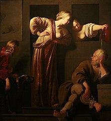 Socrate, ses deux épouses et Alcibiade
