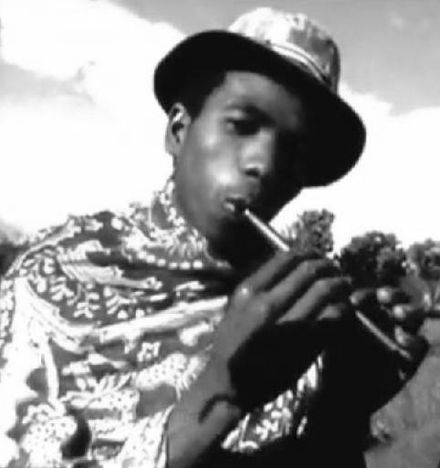 A sodina player in Madagascar Sodina Flute of Madagascar.jpg