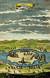 Contemporary view of Sofala from 1683