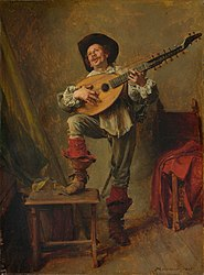 Jean-Louis-Ernest Meissonier: Soldier Playing the Theorbo
