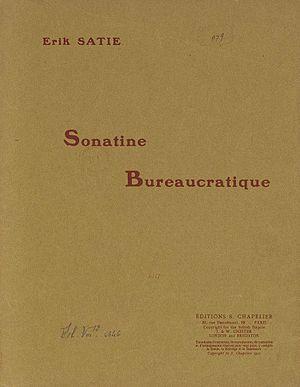 Sonatine bureaucratique - Sonatine bureaucratique, cover of the original 1917 edition