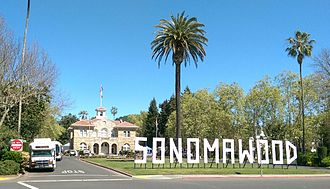 Sonoma International Film Festival - Signage on the Sonoma Plaza during the 2015 Sonoma International Film Festival