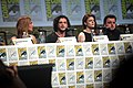 Sophie Turner, Kit Harrington, Rose Leslie & John Bradley (14794542383).jpg