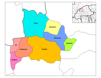 Lanfiera Department location in the province
