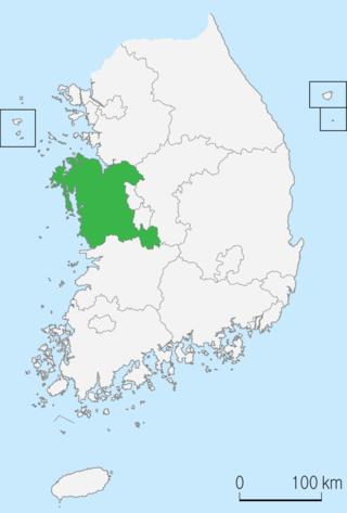 忠清南道の位置