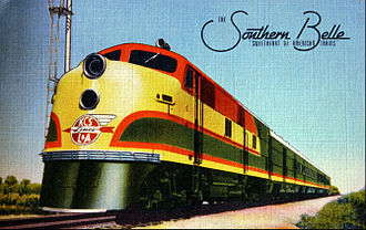 Southern Belle (KCS train) - Postcard depiction of the Southern Belle in 1941