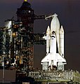 Space Shuttle Columbia at Launch Pad 39A on launch day.jpg