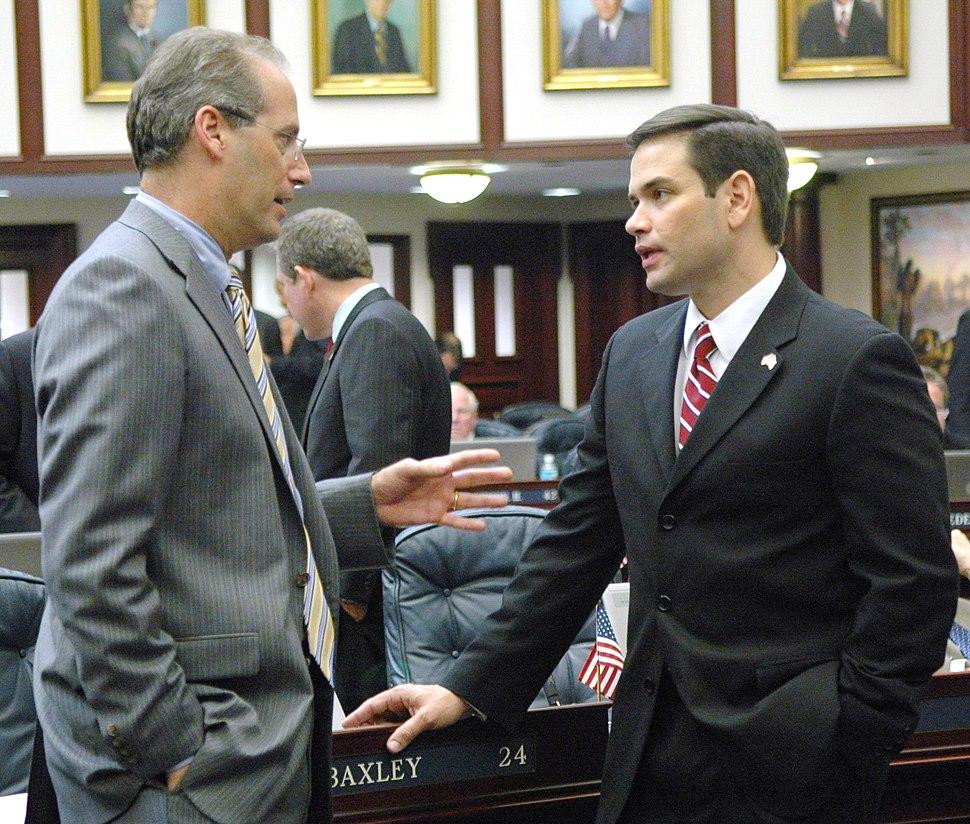 Speaker Rubio standing with Dem leader