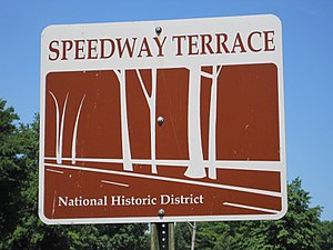 North Memphis, Memphis, Tennessee - Image: Speedway Terrace Memphis TN 02 Faxon Ave sign