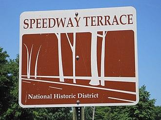 North Memphis, Memphis, Tennessee - Image: Speedway Terrace Memphis TN 02 Faxon Ave sign