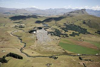 Underberg, KwaZulu-Natal - Image: Splashy Fen 2009 Aerial
