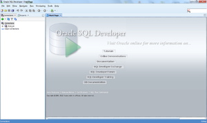 Oracle SQL Developer - Image: Sql developer main window