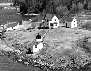 English: Squirrel Point Lighthouse, Kennebec R...