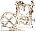 Středověký vodní mlýn - dobová kresba z 12. století.jpg