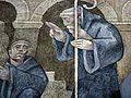 St. Benedict detail in fresco - Gritty version (3667827023).jpg