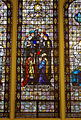 St. Joseph University Parish - stained glass, Behold the bread of Angels has become food for pilgrims, detail.jpg