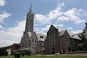 Lansford, Pennsylvania - St. Katharine Drexel Church in the borough's historic district