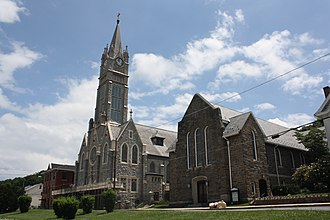 Lansford, Pennsylvania - St. Katharine Drexel Church in the borough's historic district
