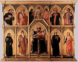 San Luca Altarpiece - Image: St. Lucas altarpiece