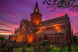 St. Magnus Cathedral at Sunset.jpg