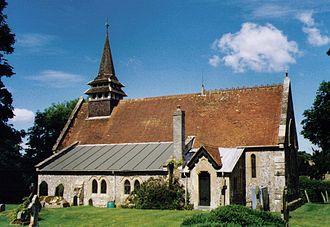 St Lawrence's Church, Weston Patrick - Image: St Lawrence Weston Patrick Geograph 1489272 by Michael FORD