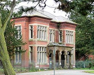 Whittingham Hospital - The main building entrance (St Luke's Division) in 2008