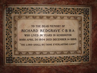 Richard Redgrave - Image: St Mary Abbots 16