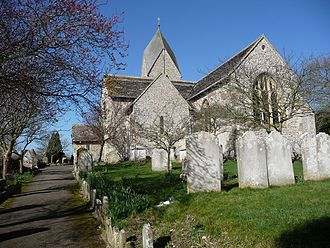 Grade I listed buildings in West Sussex - Image: St Mary the Blessed Virgin Church, Sompting (from Geograph 1194036 39eae 17f)