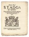 Stadga och Påbudh Öfwer åthskillige Excessers och Oordningars affskaffande, 1664 - Livrustkammaren - 100698.tif
